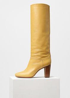 Heritage Boot in Shiny Calfskin - Céline