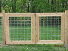 Farm Gate Idea for the backyard fence.