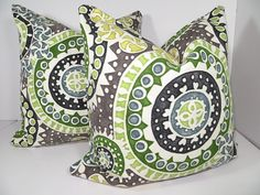 Two 16x16 Pillow  OutDoor Pillow  Indoor Pillow by ClavelFashion, $34.00
