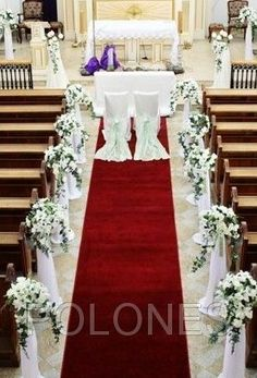 Church wedding pew decorations #BudgetWeddings # ...
