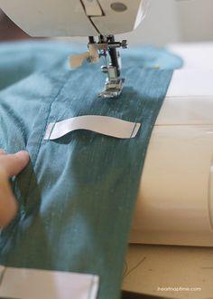 sewing ribbon tab curtains