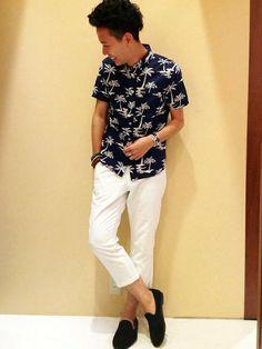 ikka高岡店 | DaWaWaさんのシャツ/ブラウス「ikka GP ヤシの木プリント半袖シャツ」を使ったコーディネート