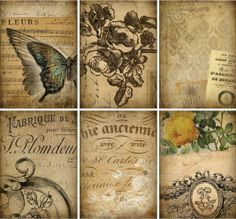 INSTANT DOWNLOAD diGiTal DownLoadS diGitAl CollAge sHeEt Old ChiC PosTcaRd PaRchmEnt PaPer priNtaBle gruNgy BackGrouNds sTAInED AAA, No. 189 on Etsy, $5.44 AUD