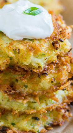 Cheesy Potato Pancakes ~ Delicately crispy crust + pillowy soft inside + ooey gooey cheese filling = DELICIOUS cheesy potato pancakes!