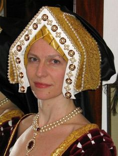 Gable Hood Tudor, worn by stepmother Parnell to the Royal ball.