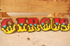 DEFINITELY!!!!! Circus Font Die Cut Paper Letters on Etsy, $0.75