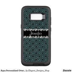Aqua Personalized #Otterbox Samsung Galaxy S8+ Case #SamsungGalaxyS8Case #glitter