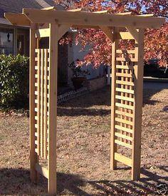 garden arbor wood gardens and cedar wood on pinterest how to build an arbor with a bench how tos diy