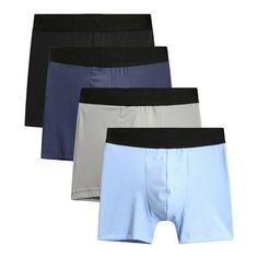 6 Pack Boys Seamless Solid Boxer Briefs Kids Spandex Underwear Soft Active S M L