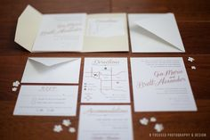 Pink & Grey Wedding Invitation