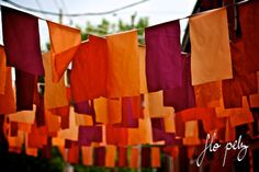"""Abstract Photography, Orange Photography, Bright Colors, Urban Photography, Wire, Purple Red Orange, Flag Photography- Laundry. 8x12""""/16x24"""""""