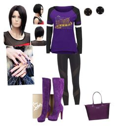 """""""Bmore Ravens"""" by lovableangeldoll ❤ liked on Polyvore featuring adidas, Christian Louboutin, Melissa Joy Manning and Lipault"""