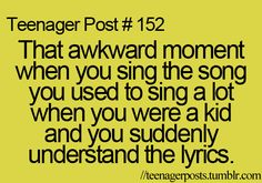 more like when you sing a song you haven't listened to since you were really young and all of a sudden the lyrics just flow out of your mouth like no problem