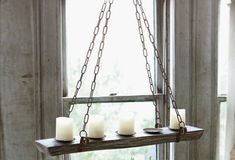 Refectory Hanging Candelabra - From Antiquefarmhouse.com - http://www.antiquefarmhouse.com/refectory-hanging-candelabra.html