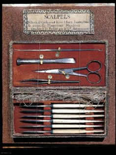 surgical instruments used in the dissection of Napoleon by Dr. Antommarchi (1821)