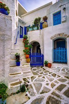 Typical Cycladic houses - Typical Cycladic houses in Paros island, Greece