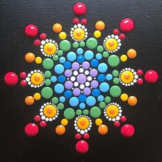 The beginning is the most important part of the work. ~ Plato  #newbeginnings • • • • #valsmandalas #mandala #art #handpainted #handmade #handmadewithlove #design #inspiration #create #zen #yoga #meditation #thebeginning #start #colors #wetpaint #acrylic #paint