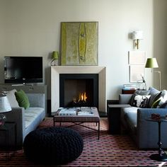 From colour to decor, hundreds of living room pictures to inspire Knitted Pouf textural addition