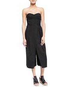 a10668eb3f88 Agathe Strapless Corset Jumpsuit by Tibi at Neiman Marcus. Black Strapless  Jumpsuit