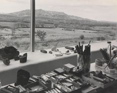 Studio Of Georgia O'keeffe Overlooking Chama Valley By Photographer Laura Gilpin