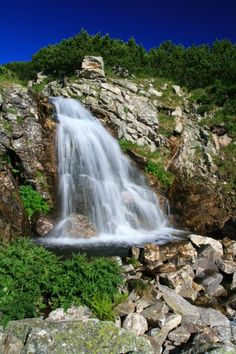 Waterfall, Rila Mountains, Bulgaria