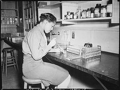 US National Archives‏Verified account @USNatArchives  Mar 25  More   Pfc. Johnnie Mae Welton, WAC, conducts an experiment in the serology lab: