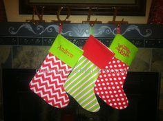 Super Cute Monogrammed or Personalized Christmas Stockings - Express your style! $19