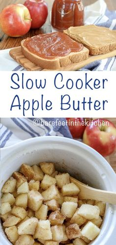 Homemade Apple Butter is so easy to make in the slow cooker! get the recipe at b… Homemade Apple Butter is so easy to make in the slow cooker! get the recipe at barefeetinthekitc… Best Apple Recipes, Apple Dessert Recipes, Jam Recipes, Canning Recipes, Healthy Recipes, Apple Recipes To Freeze, Recipes For Apples, Recipe Using Apples, Cookie Recipes