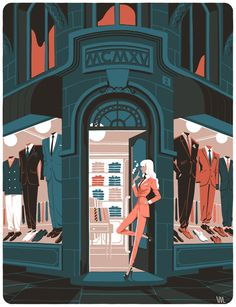 La parisienne by Vincent Mahé, via Behance