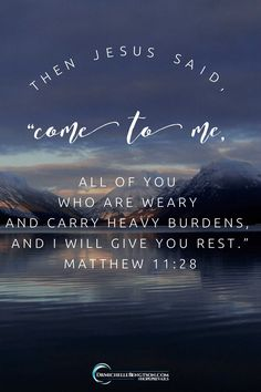 "Give your burdens to Him. Take His easier yoke in exchange.  In Matthew 11:28-29 Jesus said, ""Come to me all you who are weary and carry heavy burdens, and I will give you rest. Take my yolk upon you. Let me teach you because I am humble and gentle, and you will find rest for your souls…For My yoke is easy and My burden is light."" For 6 ways God shows He sees you, click through. #BibleVerse #scripture #faith #encouragement"