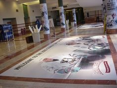 Mighty Ducks Floor Decals during 2003 Stanley Cup Playoff Run