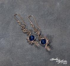 SEA MAIDEN - OOAK wire wrapped earrings. $32.50, via Etsy.