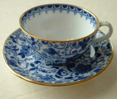 Spode teacup, newest addition to my Christmas wish list Blue And White China, Blue China, Blue Cups, China Tea Cups, My Cup Of Tea, Tea Service, Teller, Tea Cup Saucer, China Porcelain