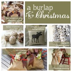 Ideas for decorating with #burlap this #Christmas!