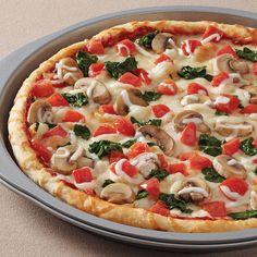 Deep Dish Spinach & Mushroom Pizza