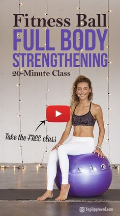 Free full body Fitness Ball tutorial