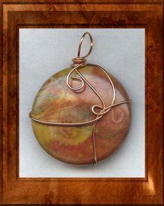 Agate Copper Wire Wrapped Pendant