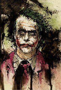 Joker Heath Ledger abstract