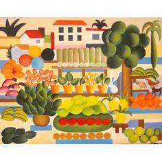 Quadro Pintura Em Tela A Feira - Tarsila Do Amaral - R$ 799,00 no MercadoLivre