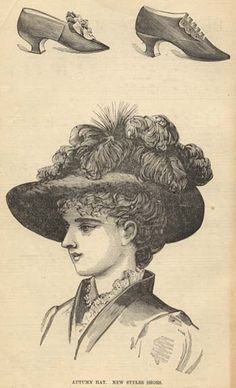 autumn hat; new style shoes  - Peterson's 1883