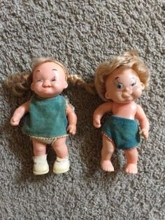 1960s-Vintage-Funny-Face-Moody-Cutie-Baby-Dolls-Made-in-Hong-Kong-Boy-Girl