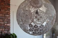 Vintage Doilies Recycled into Chic Lighting