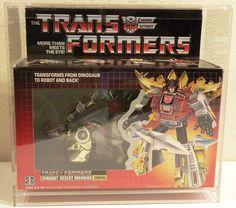 1985 G1 TRANSFORMERS DINOBOT SNARL. MIB. MINT. UNUSED. C9.5+ #Hasbro