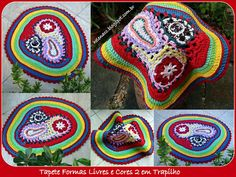 Rug Shapes and Colors ~freeform crochet