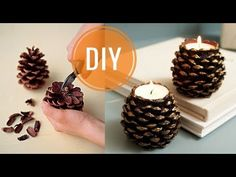 Christmas Gift / Christmas Decor Do It Yourself! / Cone Candle Holder Making Presents For Her, Xmas Gifts, Christmas Presents, Christmas Crafts, Christmas Decorations, Holiday Break, Experience Gifts, Deco Table, Toys For Boys