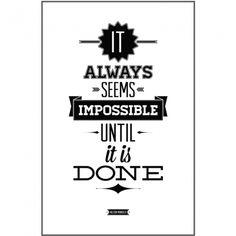 Plakat 60 x 80 cm w ramce - Mandela