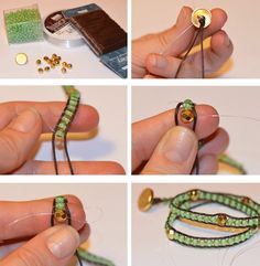 FREE D.I.Y Wrapped Bracelet by MakeitandFakeit. Many FREE Bead Patterns and Tutorials at Sova-Enterprises.com