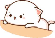 Cute Anime Cat, Cute Cat Gif, Funny Cute, Cute Cartoon Pictures, Cute Images, Bear Gif, Chibi Cat, Little Panda, Cool Stickers