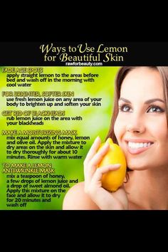 Lemon facials