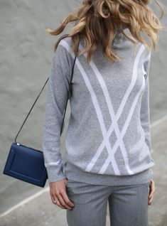 Mary Orton wearing a Tommy Hilfiger turtleneck sweater